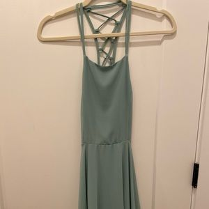 Lulus cocktail dress with lace-up back
